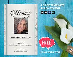 true sunset funeral program template obituary program