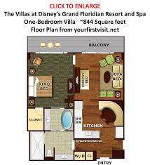 disney u0027s grand floridian resort and spa 1 bedroom floor plan