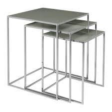 buy broste copenhagen freja table set amara broste copenhagen freja nesting table set steel rockridge