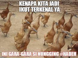 Meme Bebek - 10 meme lucu reaksi netizen pada zaskia gotik