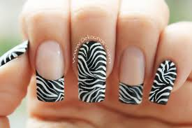 decoración de uñas animal print zebra animal print zebra nail