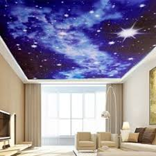 chambre ciel étoilé tempsa papier peint 3d ciel etoilé pour decoration chambre salon