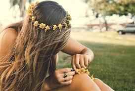 flower hair rings images Bohemian boho curls curly image 693664 on jpg