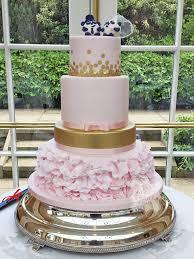 wedding cake essex 4 tier blush pink and gold wedding cake rochford essex the
