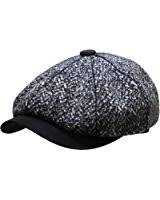 deewang men u0027s premium wool applejack newsboy 8 panel hat snap brim