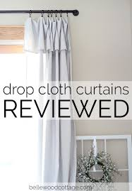 Diy Drop Cloth Curtains Drop Cloth Curtains Reviewed Part 2 Bellewood Cottage