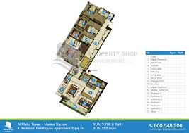 floor plans of al maha tower in marina square al reem island