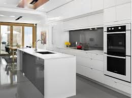 kitchen room white kitchen cabinets with dark floors modern