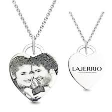 Photo Engraved Necklace Personalized Jewelry By Lajerrio Lajerrio Jewelry