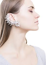 what is ear cuff rock chic statement ear cuff in silver happiness boutique