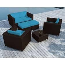 coussin pour canapé de jardin housse de coussin pour salon de jardin en resine tressee la redoute
