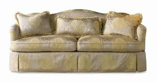 sherrill traditional upholstered camel back sofa with dressmaker