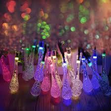 20 led icicle lights solar powered raindrop string lights