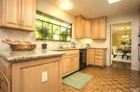 Maple Cabinets With Granite Countertops Natural Maple Cabinets With