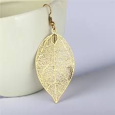 leaf pattern necklace antique gold leaf jewelry set copper filigree leaf pattern copper