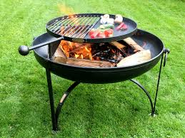 Bbq Firepit Pit Plain Collection With Swing Arm Bbq Rack Firepits Uk
