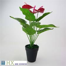 indoor plants decor promotion shop for promotional indoor plants free shipping 12 leaves pcs 2pcs lot anthurium plants artificial tree artificial plants home decoration indoor plants