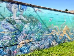 walking holidays on the sunshine coast 9 sechelt s street here s another example of creating art on a canvas that is sometimes the subject of an angry can of spray paint this mural is one of many by artist
