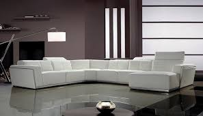 White Leather Sofa Sectional Contemporary White Leather Sectional Sofa With Retractable