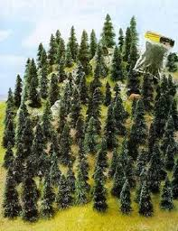 busch 100 small fir pine trees z or n scale 6599 ebay