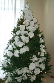 How To Decorate A Large Christmas Tree - she tucks a giant flower into her tree when the camera zooms out