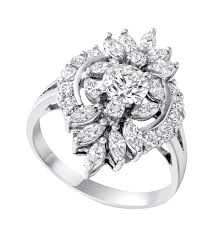 diamond jewellery rings images Dramatic large diamond ring unusual cluster ring ni png