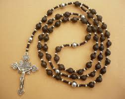 mens rosary mens lava rosary etsy