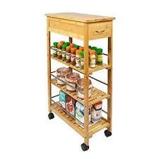 kitchen trolley island kitchen trolley wooden rolling cart slim bamboo storage rack island