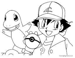pokemon u2013 ash coloring page 01 coloring page central