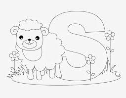 printable alphabet coloring pages sheep 564272 coloring pages