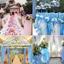 tulle decorations wedding organza tulle centerpieces sashes yarn soft fabric diy