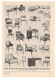 vintage sofas and chairs vintage furniture ads of the 1960s baumritter furniture chairs