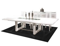 White Lacquer Dining Table - Black lacquer dining room set