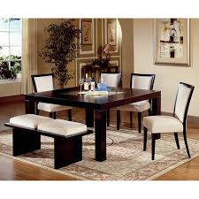white dining room table with bench and chairs 6494
