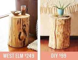 How To Make End Tables Wooden by Diy Natural Tree Stump Side Table Justinecelina