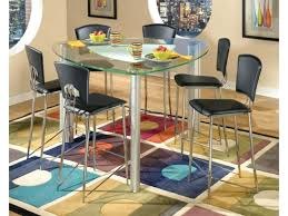 triangle counter height dining table triangular modern tracy glass counter height table chrome stools