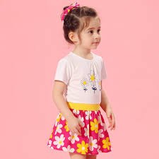 baby flower dress pink birthday frocks for toddlers