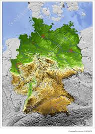 Map Of Germany And Italy by Illustration Of 3d Relief Map Of Germany