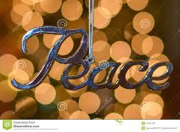 silver peace ornament stock photo image 47841258