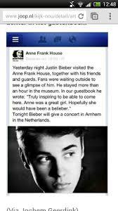 Anne Frank Memes - justin bieber visits the anne frank house gbatemp net the