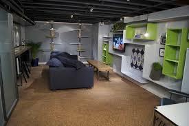 unfinished basement floor ideas painting concrete basement walls