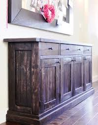 kitchen buffet and hutch furniture white rustic sideboard buffet table diy projects