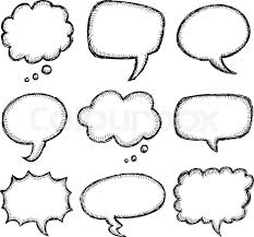 hand drawn comic speech bubble set stock vector colourbox