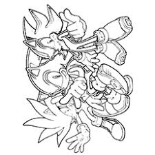 sonic and shadow coloring pages silver the hedgehog coloring pages funycoloring