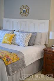 how to make a bed headboard bedroom marvelous how to make a headboard out of door img 8507
