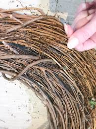 brown floral wire diy wreath nest wreath