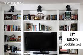 Easy To Build Bookshelf Diy Built Ins Thewhitebuffalostylingco Com