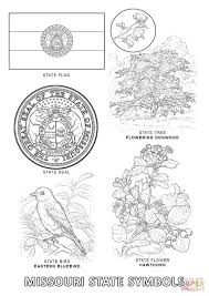 missouri state symbols coloring page free printable coloring pages