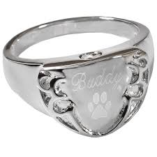 cremation rings pet cremation jewelry engravable shield ring