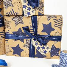 recycled wrapping paper recycled blue brown wrapping paper by